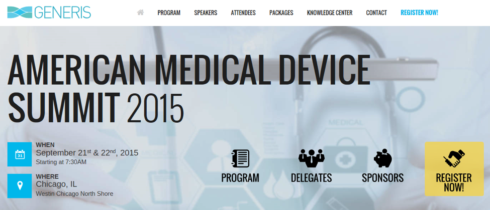 Porticos Sponsors American Medical Device Summit
